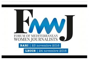 Forum delle giornaliste del mediterraneo al via a Bari e Lecce