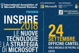 INSPIRE 2018: il 24 settembre Microsoft scende per strada, a Lecce