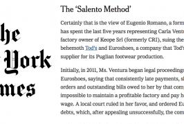 The New York Times rilancia le inchieste del Tacco sul caporalato industriale di Tod's