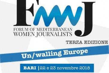 Al via il Forum delle Giornaliste del Mediterraneo 2018